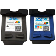 New Refillable TWIN PACK HP 21 BLACK + 22 COLOUR Compatible Ink jet cartridge for Deskjet F4140 F4172 F4180 F4190 F370 F380