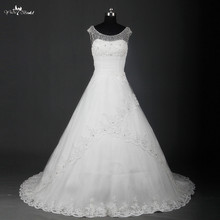 yiaibridal RSW740 Robe De Mariee Boat Neck V Wedding Dress
