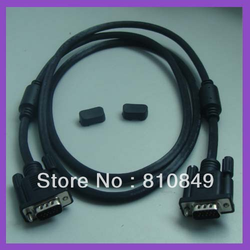 LOT OF 50 NEW SVGA VGA MONITOR CABLES MALE TO MALE 15 PIN 5FT