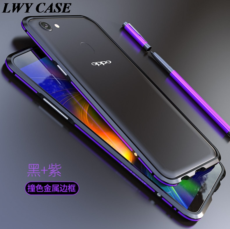 For OPPO F5 Original LUPHIE Aluminum Metal Frame Bumper Cover Luxury slim metal Phone Cases