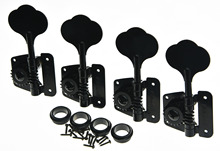 Quality Wilkinson 4 Left Handed Bass Tuners WJBL-200 Tuning Keys Machine Heads Black