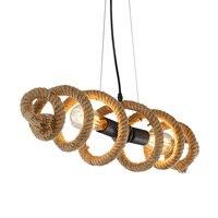 Ретро Промышленность искусство светильники подвесные светильники бар магазин одежды, Кафе Ресторан железная лампа веревка Подвесные Ламп
