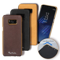 Pierre Cardin Luxury High Quality Genuine Leather For Samsung Galaxy S8 S8 Plus Phone Case Cover