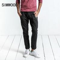 SIMWOOD 2017 Autumn Winter New Casual Pants Men Drawstring Joggers Sweatpants Trousers Plus Size Brand Clothing
