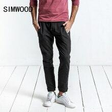 SIMWOOD Outono Inverno 2017 Novos Calça Casual Homens Com Cordão Calças Corredores Sweatpants Plus Size Roupas de Marca WC017002