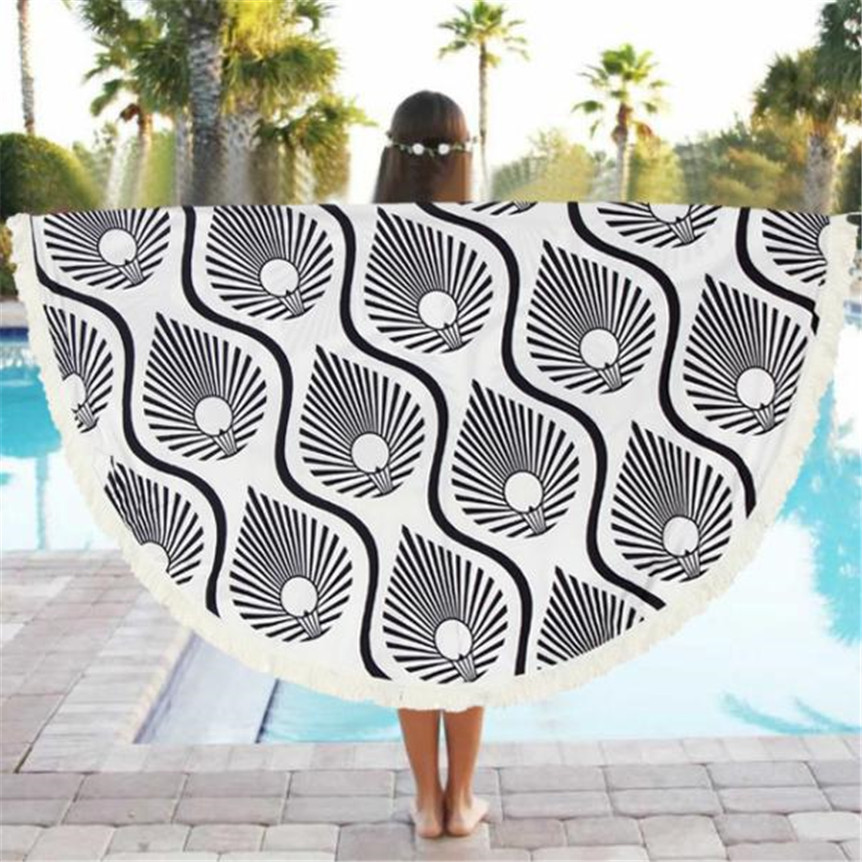 Round Beach Pool Home Shower Towel Blanket Table Cloth Yoga Mat Oct1012 Extraordinary