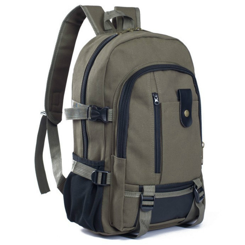Brand Laptop Backpack Mens Travel Bags 2017 Multifunction Rucksack Waterproof Canvas Black Brown School Backpacks for Teenagers