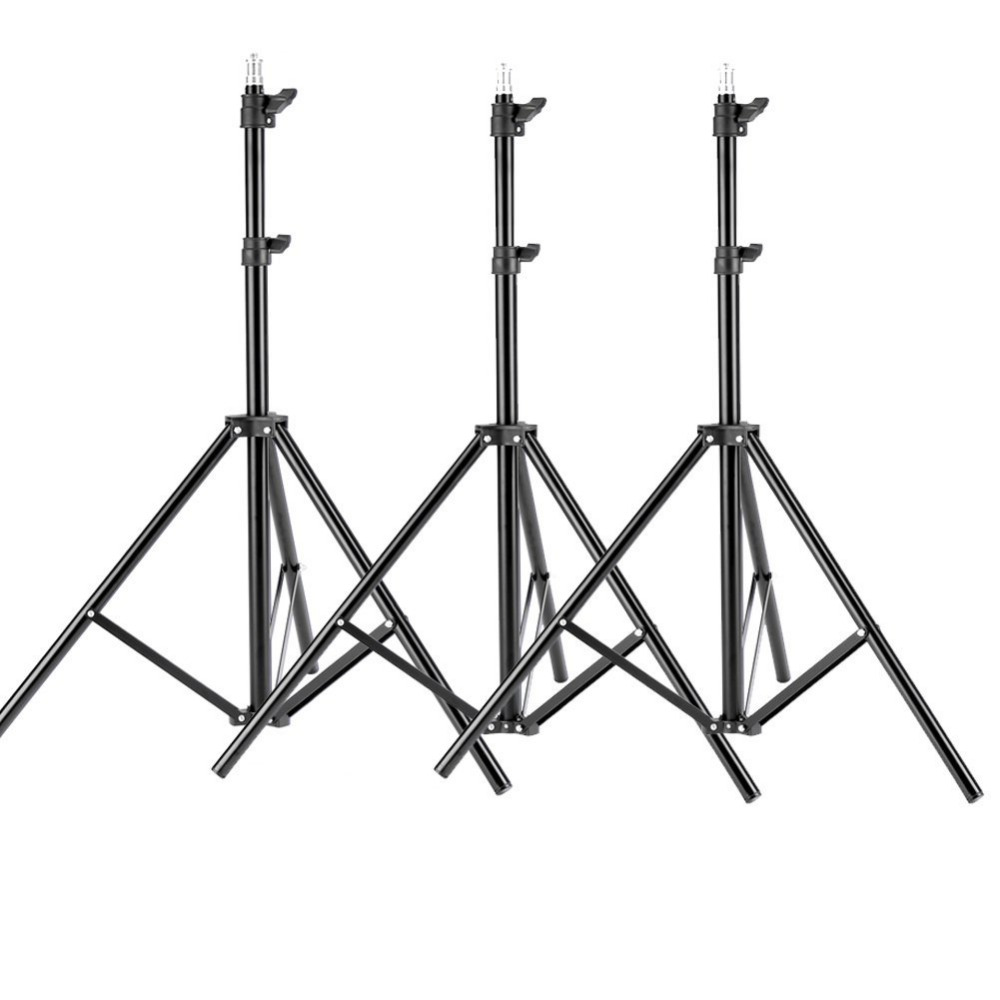 neewer 3 pieces 6ft 75 inch 190cm photography tripod light stands for studio kits video lights. Black Bedroom Furniture Sets. Home Design Ideas