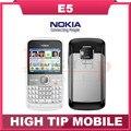Nokia E5, celulares da marca desbloqueado recuperado nokia câmera de 5MP 3 G telefones móveis do bluetooth mp3 player