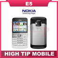 Nokia E5, teléfonos celulares desbloqueados marca Refurbished nokia cámara de 5MP 3 G móvil teléfonos bluetooth mp3 jugador