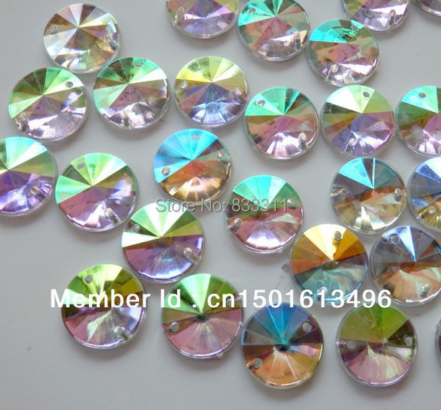 big Promotion Quality AAA 150pcs bag 16mm Acrylic Crystal Clear AB Color  Dazzling Rhinestone Round Shape YYXJ-A-16 Free shipping 61ee0fb393e8