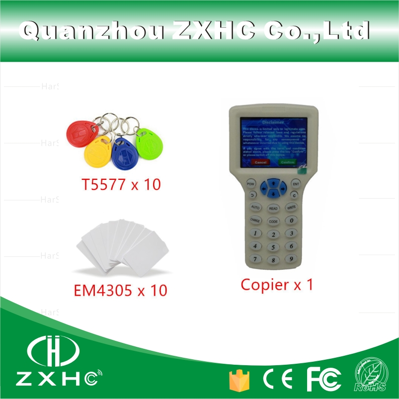 Anglais Langue USB RFID Lecteur De Carte-Clé Écrivain Copieur Duplicateur 125 khz 13.56 mhz 10 Fréquence Avec 20 pcs Programmable tags