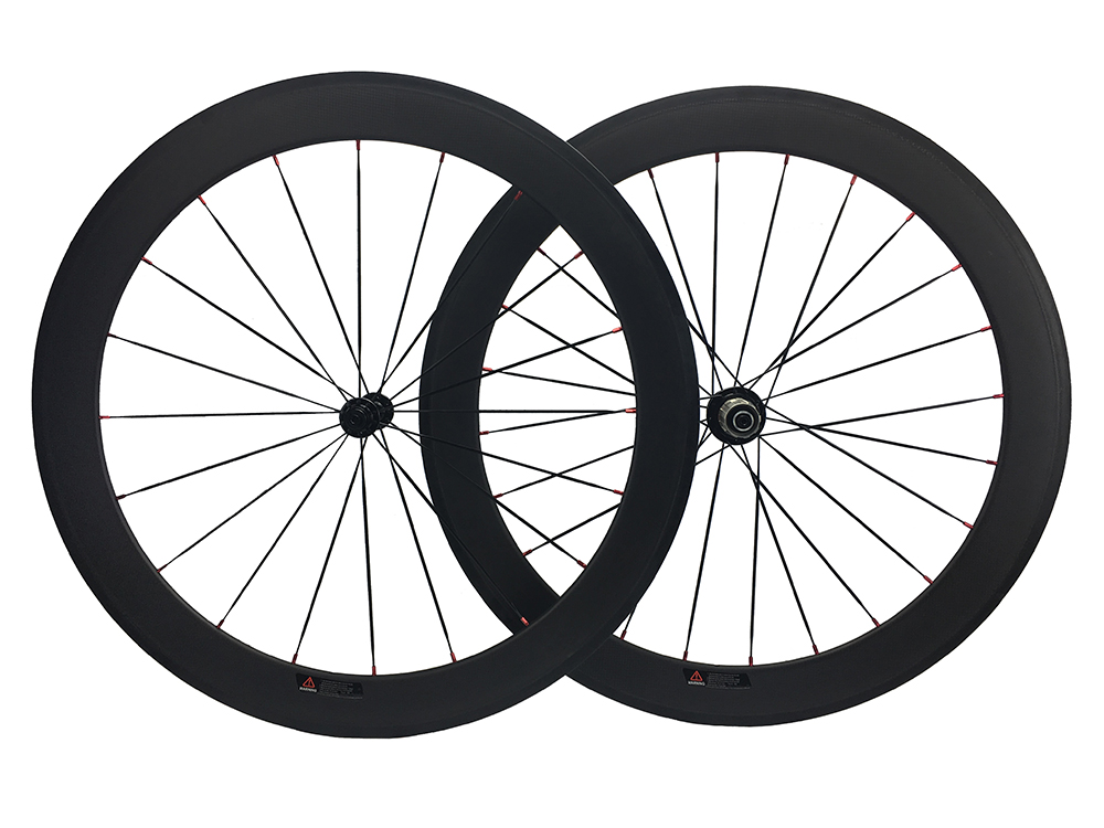 50mm profile tubular carbon fiber wheel road cycle wheel set,bicycle wheel 25mm width wheel with R13 hub flat spokes 50mm clincher carbon bike wheel 25mm width bicycle wheel set novatec light weight hub 700c wheel set
