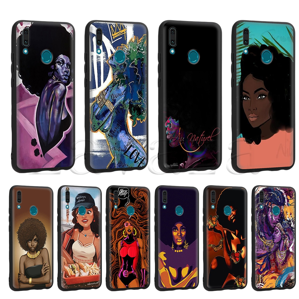 Lavaza Beautiful Afro <font><b>Girls</b></font> Black <font><b>Case</b></font> for <font><b>Huawei</b></font> Mate 10 P8 P9 P10 P20 P30 <font><b>Y7</b></font> Y9 Lite Pro P Smart Mini 2017 <font><b>2019</b></font> 2018 image
