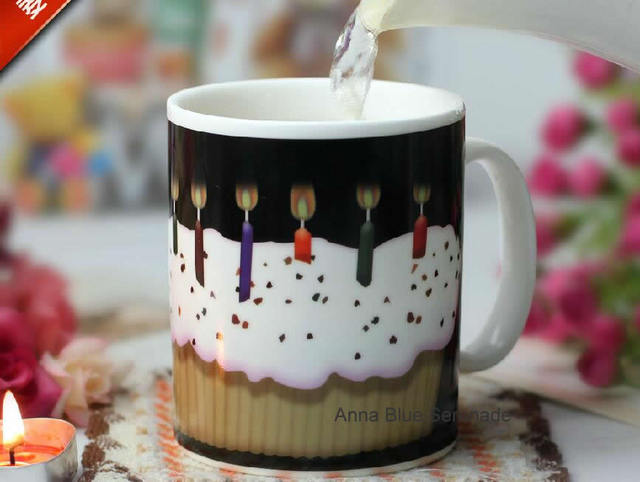 Creative Birthday Cake Color Cup Happy Gift Ceramic Super Nice Holiday Theme Mugs