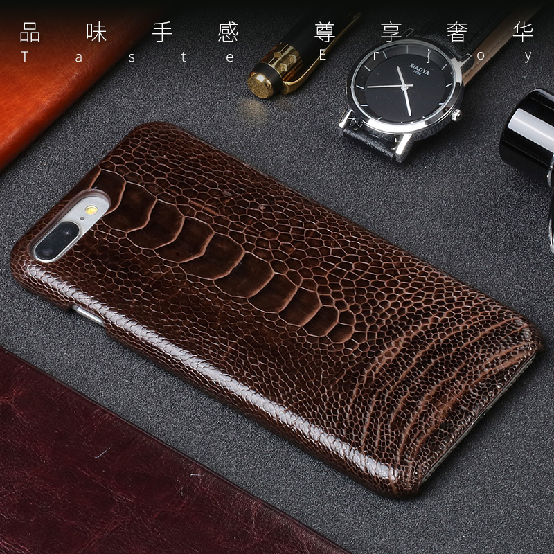 Luxury Natural Ostrich foot skin case For iPhone 7P case Really Genuine leather back cover For iphone 6 6S 8 Plus X 5 5S SE CaseLuxury Natural Ostrich foot skin case For iPhone 7P case Really Genuine leather back cover For iphone 6 6S 8 Plus X 5 5S SE Case