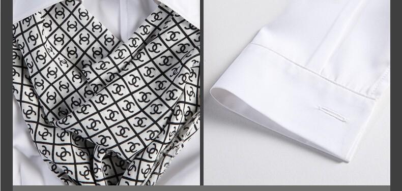 HTB1KQisJpXXXXa5XpXXq6xXFXXX2 - Women's shirt slim formal scarf collar long-sleeve blouses