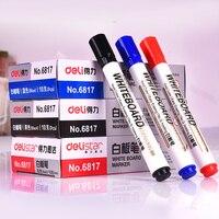 Deli White Board Marker Easy Erasable Whiteboard Pen 10 Pcs Box Black Blue Red Color