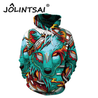 Hot Sale Brand Clothing Hooded Jackets Men Autumn Sweatshirt Men's Tracksuit 3D Printing Lion Sweatshirts Wolf Hoodie for Lovers