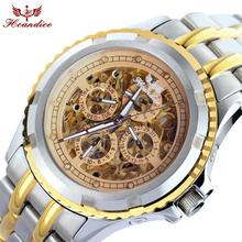 2017 Dignity 1PC Men's Hcandice Fashion Skeleton Mechanical Stainless Steel Watches High Quality JUN 8