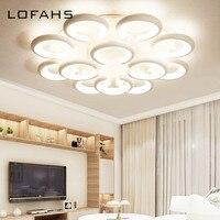 LOFAHS большая современная светодиодная Люстра для гостиной спальни столовой несколько огней белая Потолочная люстра для зала освещения