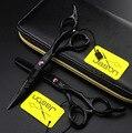JASON черные волосы ножницы 5.5 дюймов розовый винт профессиональный парикмахер парикмахерские ножницы филировочные ножницы логотип
