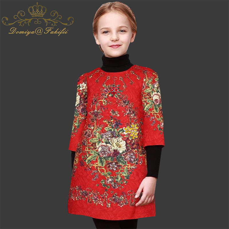 Domiya&FakifiiGirls Dresses 2018 New Brand Princess Girl Clothing European and American Style Cute A-line Dresses For Baby Girls classic black and white european new style girls dress temperament princess party dresses necklace sleeveless baby girl clothing