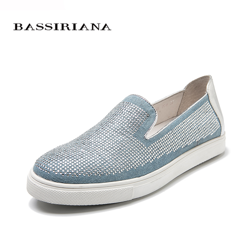 Slip-on shoes woman New spring 2017 35-40  Comfortable women shoes Free shipping BASSIRIANA 2016 spring and summer free shipping red new fashion design shoes african women print rt 3