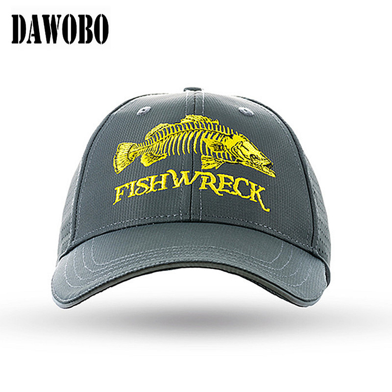 27be5ae60620d New arrival Brim of hat with reflective design Fish bone embroidery  Breathable fishing cap Mountaineering Anti UV fishing hat-in Fishing Caps  from Sports ...