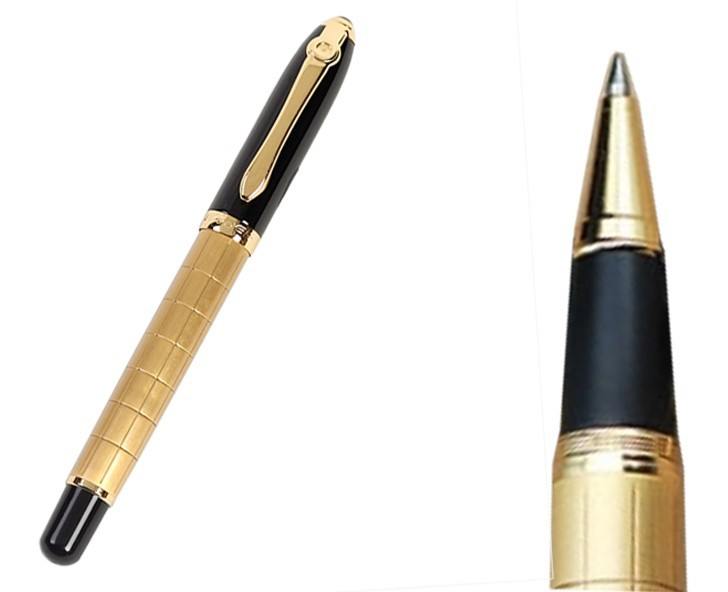 24xGold RollerBall Pen Or 0.7 Nib Fountain Pen, 0.5 Hooded Nib Fountain Pen   Baoer701 standard pen Free  Shipping 8pcs lot wholesale fountain pen black m 14 k solid gold nib or rollerball pen picasso 89 big executive stationery free shipping