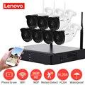 LENOVO 7CH Array HD Wireless Security Camera System DVR Kit 960P WiFi camera Outdoor HD NVR night vision Surveillance camera