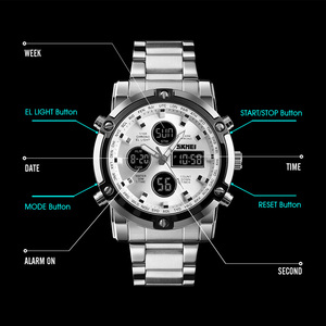 Image 2 - SKMEI Marke Männer Digitale Uhren Mode Countdown Chronograph Sport Armbanduhr Wasserdicht Luxus Leucht Elektronische Uhr Uhr