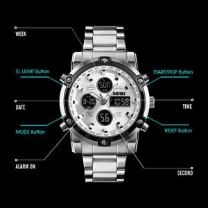 Image 2 - Skmei marca homens relógios digitais, dos homens á prova d água luxo luminoso relógio eletrônico de contagem regressiva