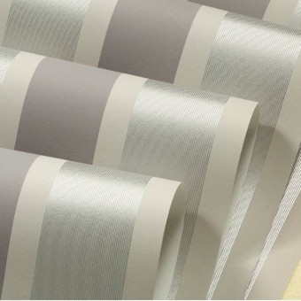 Buy silver grey stripes wallpaper modern for Grey silver wallpaper living room