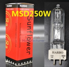 Free shipping Stage Lighting Lamp MSD 250 2 MSD250W Watts 90V MSR Bulb NSD 250W 8000K