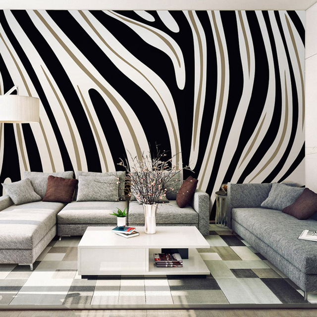 Customized Size Simple Textured Black And White Striped Photo Wallpaper For  Bedroom Living Room Home Decor