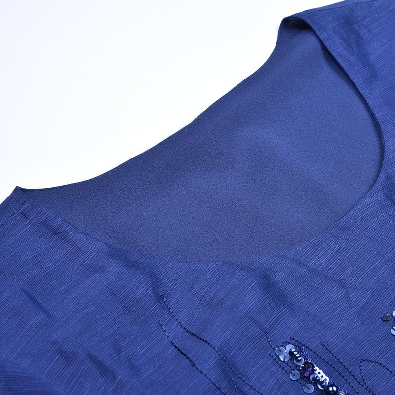 Robe Marque A4zt956 De blanc D'été États Europe Lin D'ongle Et Paillettes Bleu En Soie Perle Femmes unis ISwYSCq