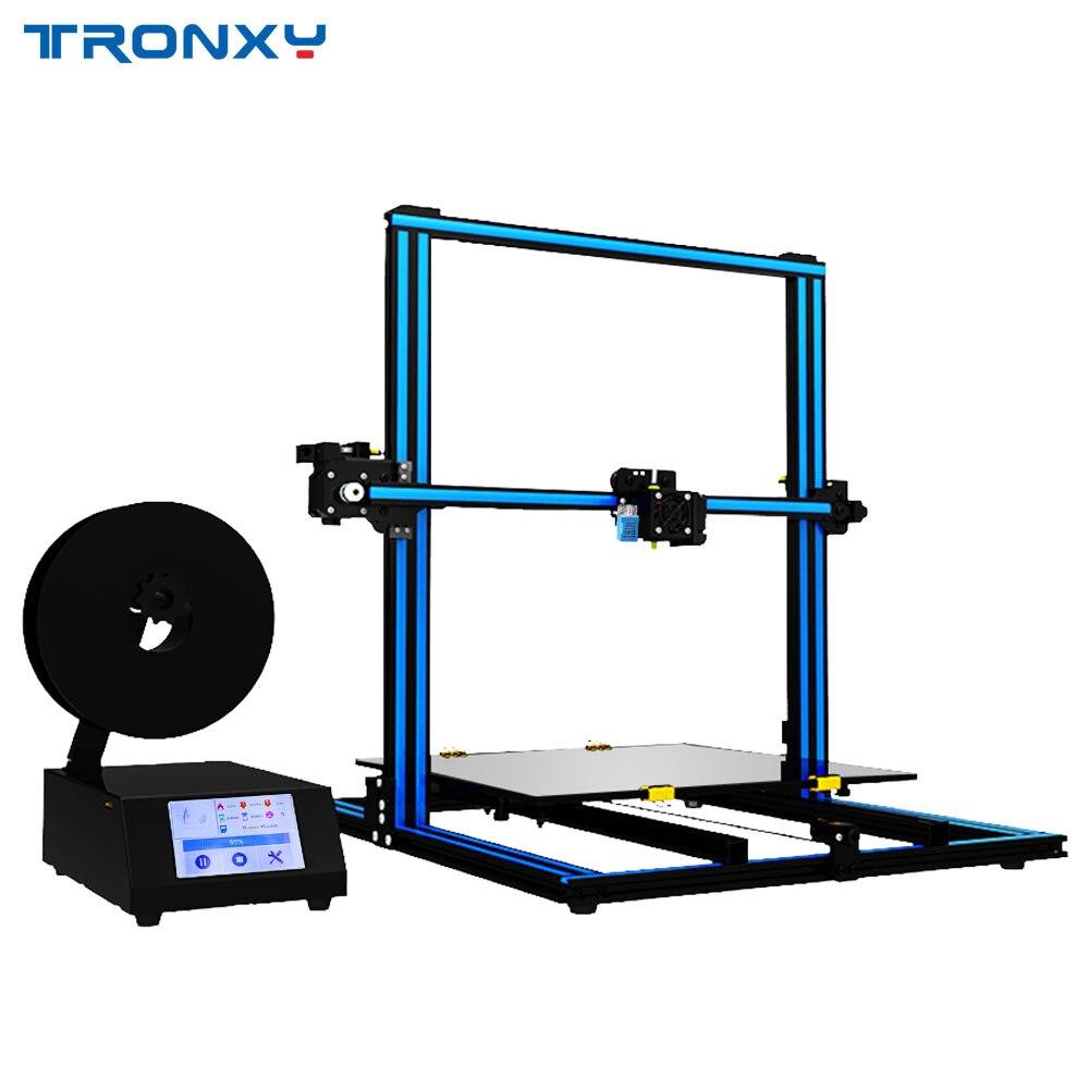 2018 Tronxy X3SA Assemblés Rapidement En Aluminium 3D Imprimante Haute Qualité D'impression impresora 3d imprimante Auto nivellement et Écran Tactile