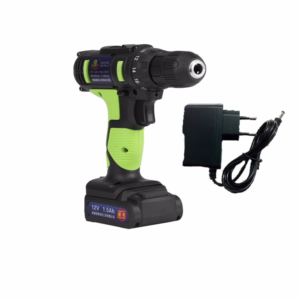 Power Tools Industrial Grade Drill Power Tools 12V Electric Screwdriver Drill Rechargeable Lithium Ion Battery Cordless Drill цена