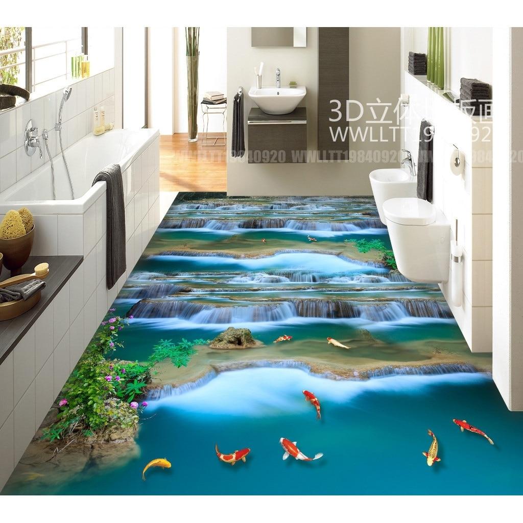 3D pvc vloeren muursticker Sprookjesland maken geld stroomt waterval ...