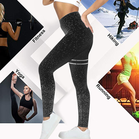 HEFLASHOR Solid Push Up Dot Printed Leggings High  Workout Sweatpants Women Sports Running Pants Fitness Trousers Female Karachi