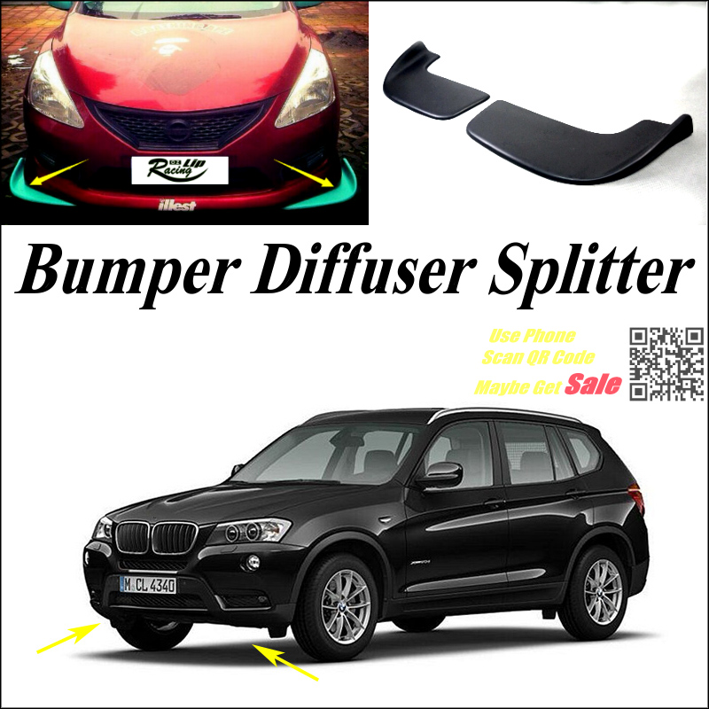 car splitter diffuser bumper canard lip for bmw x3 e83 f25. Black Bedroom Furniture Sets. Home Design Ideas