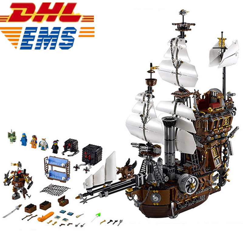 MTELE Pirate Ship Metal Beard's Sea Cow Model Building Blocks Kits Figure Bricks Toy Model 70180 lepin 16002 2791pcs modular pirate ship metal beard s sea cow building block bricks set toys legoinglys 70810 for children gifts