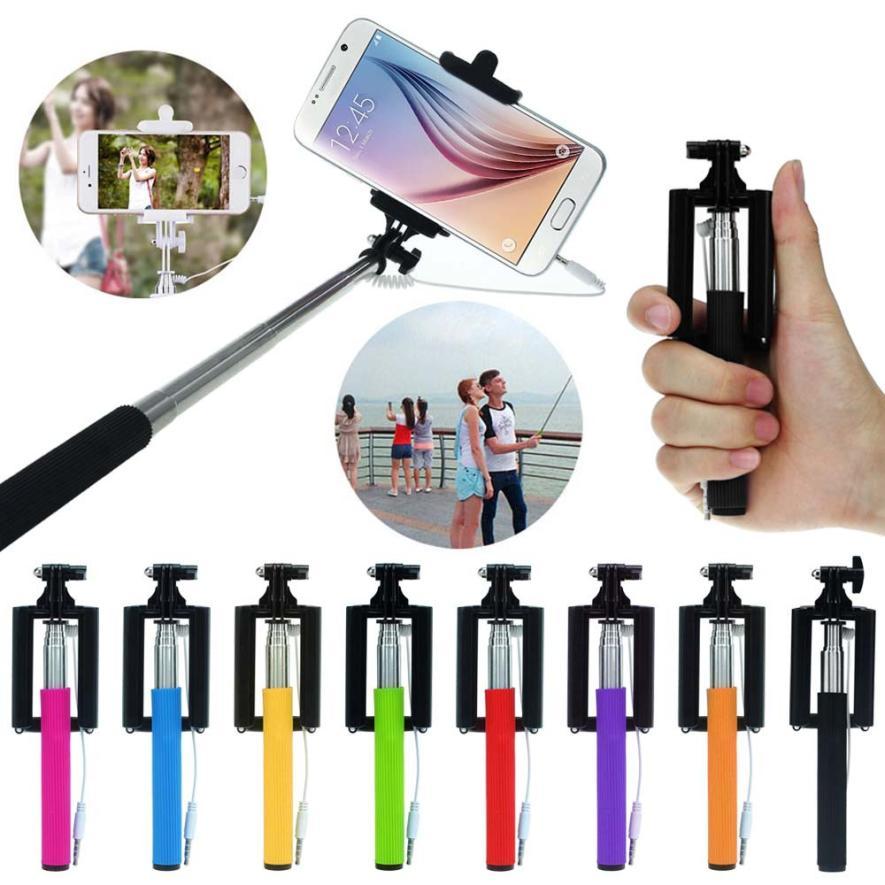 Ouhaobin мини-штатив выдвижной ручкой для автопортретной съемки selfie stick пало selfie bastone selfie stick Feb18