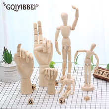 Wooden Hand Joints Model Ornaments Art Comics Sketches Special Shops Home Furnishing Rooms Office Desk Ornament Miniatures