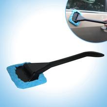 Nowy Auto okno samochodu Cleaner długa rączka szczotka do mycia wycieraczka szyby przedniej tkaniny czyste narzędzia CSL2017 tanie tanio Other Gąbki Tkaniny i szczotki