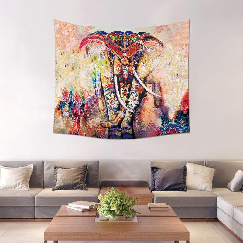 Morigins Nach Tapisserie Boho Wohnkultur Mandala Animales Wandteppiche Elefanten Muster Wand Decke Mode Psychedelic Tapisserie