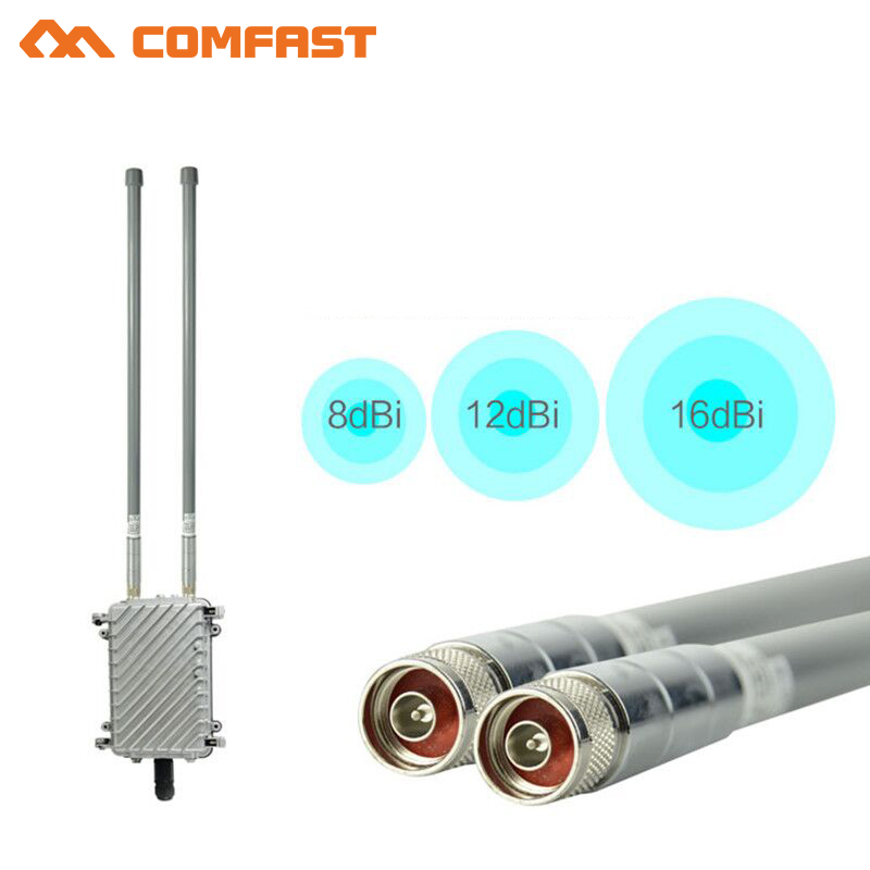 COMFAST base station HIGH POWER Outdoor AP Router WiFi Signal Amplifier WiFi Repeater Signal Booster with 2*8dBi FRP antennas