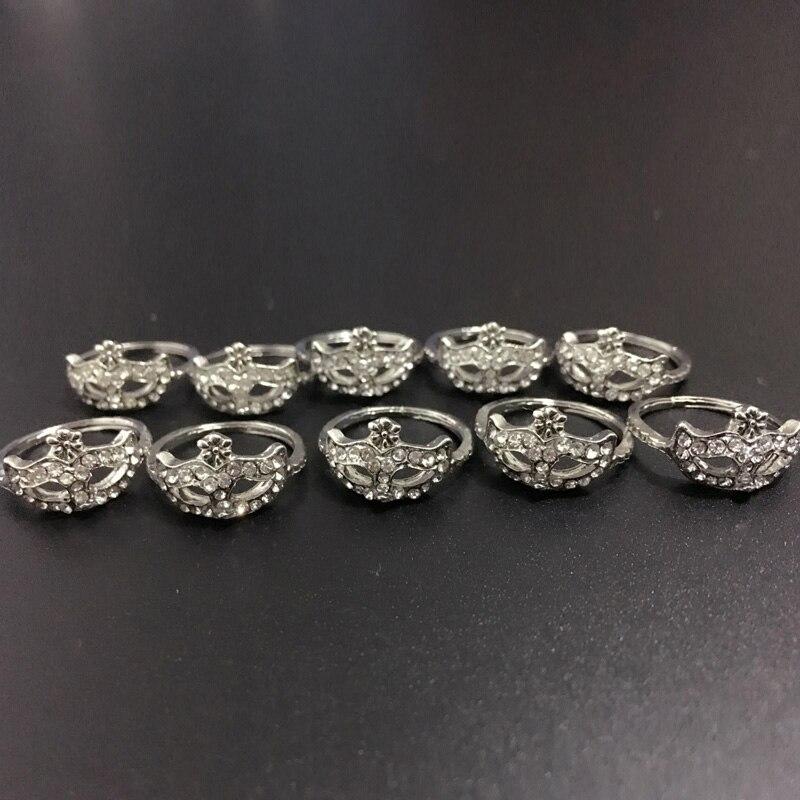 10 шт./лот, посеребренные кольца с кристаллами, маска для женщин, 50 оттенков серого, стильные кольца, бесплатная доставка, модные ювелирные изделия, лучший подарок