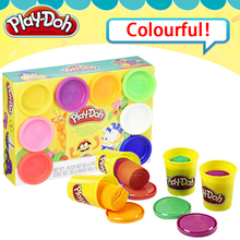 Original Play Doh Colorful clay dolls childrens plasticine 8 color suit hand made diy toys moulding tools family print